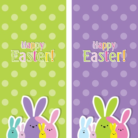 conejo pascua: Pascua web banners Vectores