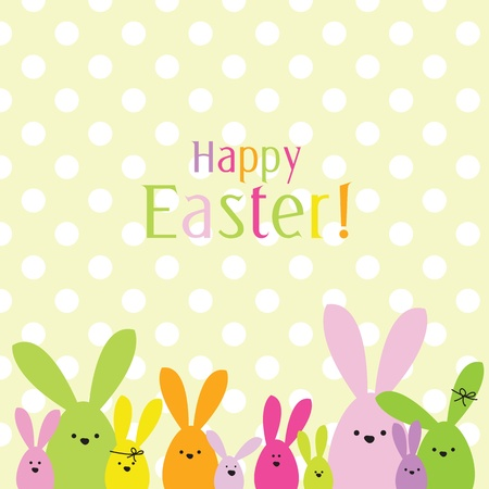 Easter card with copy space Stock Vector - 12900418