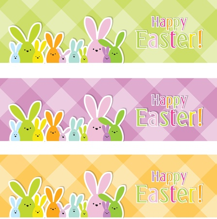 happy easter: Easter web banners