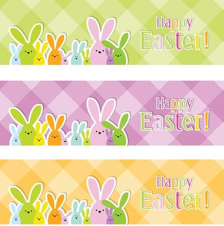 buona pasqua: Pasqua web banner Vettoriali
