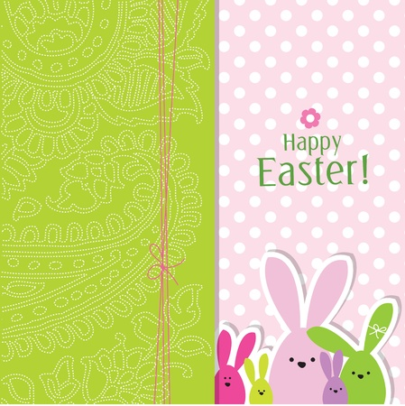 Easter card with copy space Stock Vector - 12900437