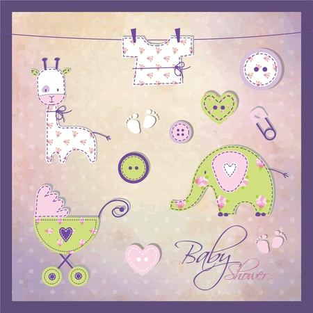 Baby shower elements  Vector