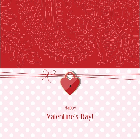Valentine s card with copy space Vector