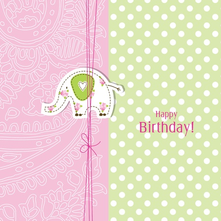 background baby: Greeting card with copy space