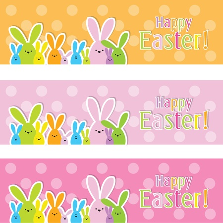 Easter web banners Stock Vector - 12900505