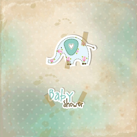 Baby shower card Stock Vector - 12961685