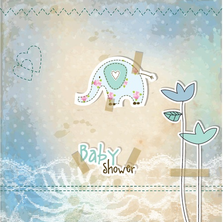 Baby shower invitation card Stock Vector - 12961694