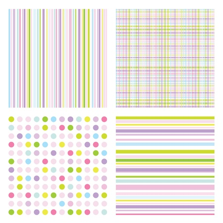 Set of modern seamless patterns Vector