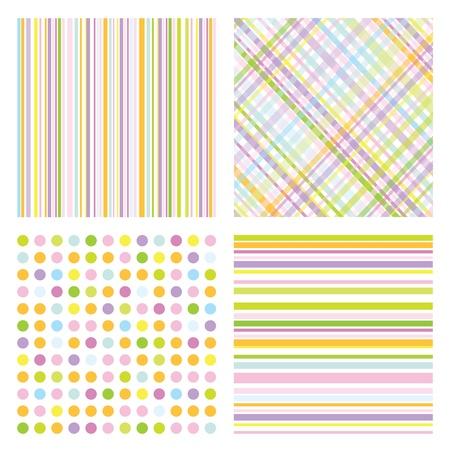 baby scrapbook: Reihe von modernen nahtlose Muster Illustration