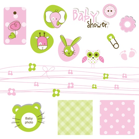 baby elephant: Scrapbook design elements