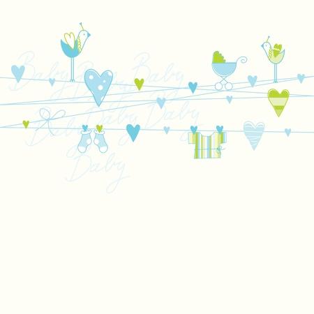 baby clip art: Baby shower card