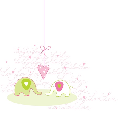 love picture: Romantic Love card with copy space  Illustration