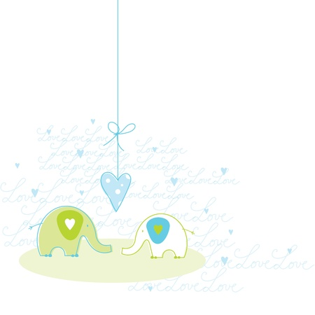 Romantic Love card with copy space  Ilustrace
