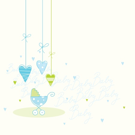 Baby shower card with copy space Vektorové ilustrace