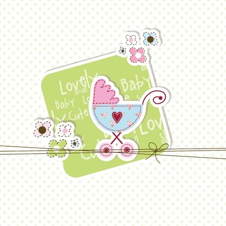 Baby shower card with copy space  Vector