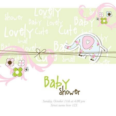 Baby shower card with copy space  Stock Vector - 13027287