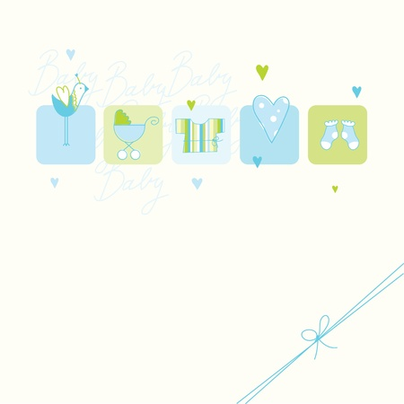 arrival: Baby shower card with copy space