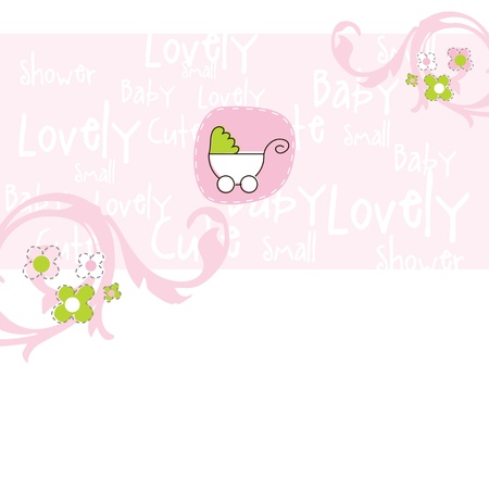 Baby shower card Stock Vector - 13027278