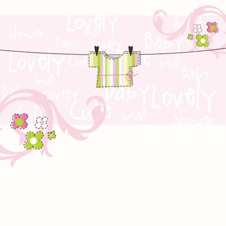 newborn baby girl: Baby shower card