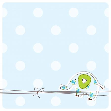 Baby-Duscheeinladungskarte Vektorgrafik