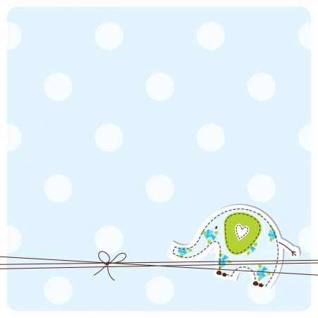 baby illustration: Baby shower invitation card