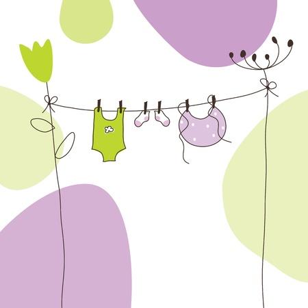 Tarjeta de Baby Shower con copia espacio Ilustración de vector