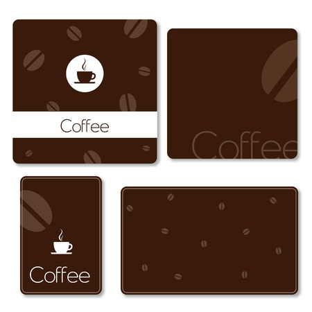 Templates - coffe theme Vector