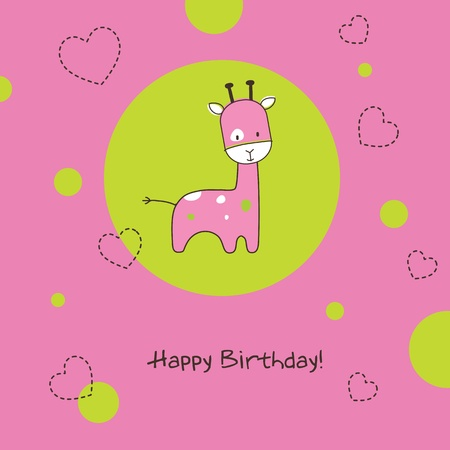 Greeting card with copy space Vector