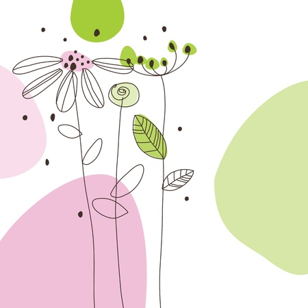 garden party: Greeting card with copy space