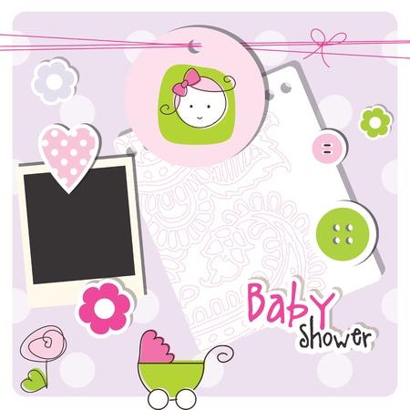 invitacion baby shower: Beb� elementos de ducha de dise�o