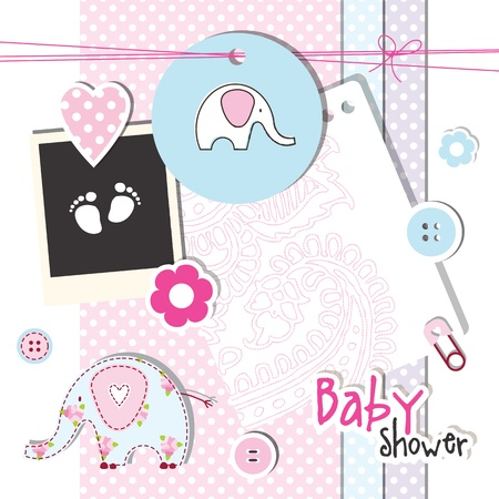 Baby shower design elements Vector