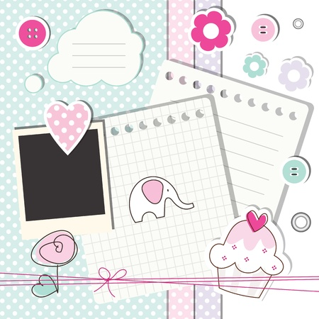 baby scrapbook: Baby shower design elements