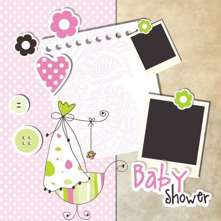 Baby shower design elements Stock Vector - 13251491