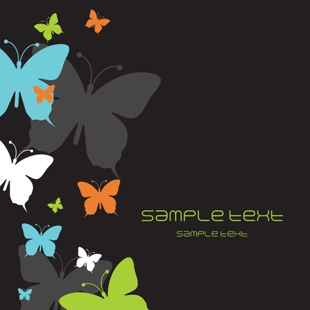 animal photo: Background with butterflies  Illustration