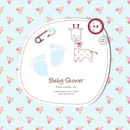 Baby shower card Stock Vector - 13503343