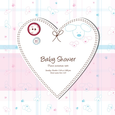 Baby shower card Stock Vector - 13503344