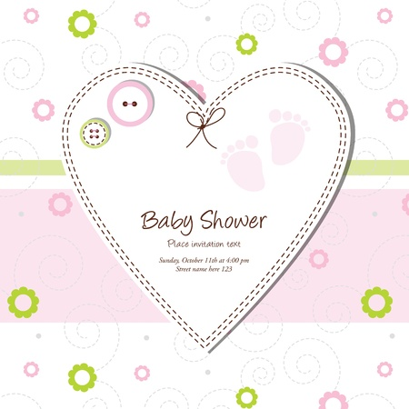 Baby shower card Stock Vector - 13503337