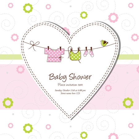 Baby shower card Stock Vector - 13503340