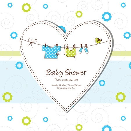 Baby shower card Stock Vector - 13503341