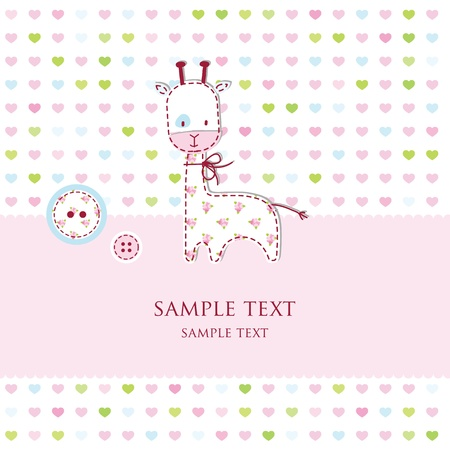 Baby shower card Stock Vector - 13503336