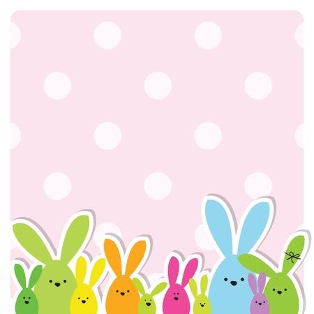 easter bunny: Ostern-Karte mit Kopie Raum