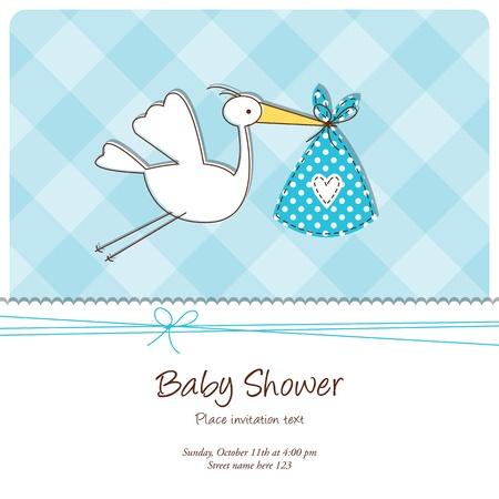 복사 공간 베이비 샤워 카드