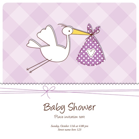 Baby shower card with copy space Ilustracja