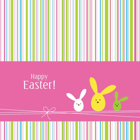 easter bunny: Easter card with copy space