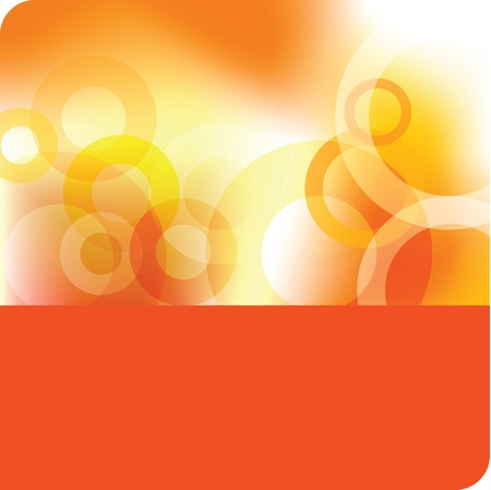 orange water: Abstract background - template Illustration
