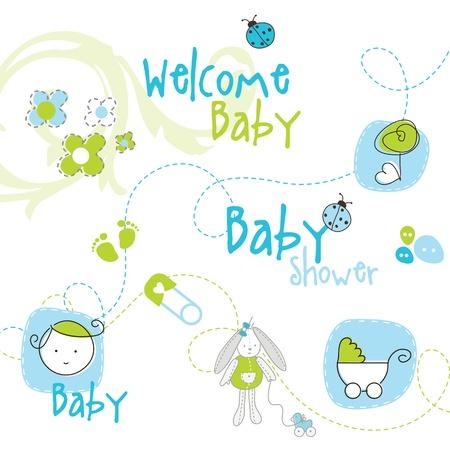 ベビー シャワーのデザイン要素