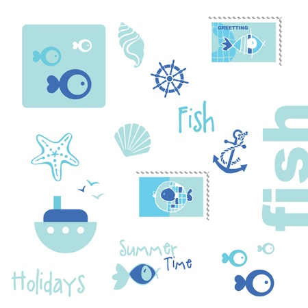 Summer graphic elements Vector