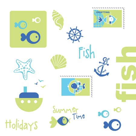 Summer graphic elements