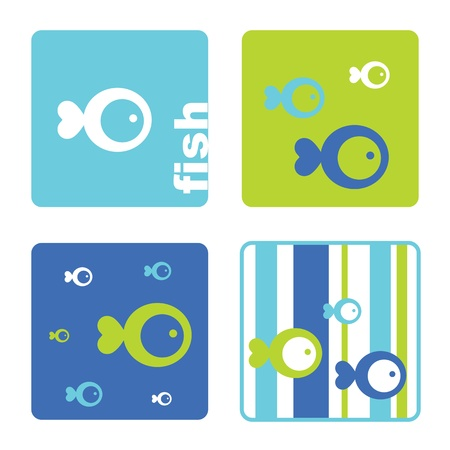 Fish - Design templates Vettoriali