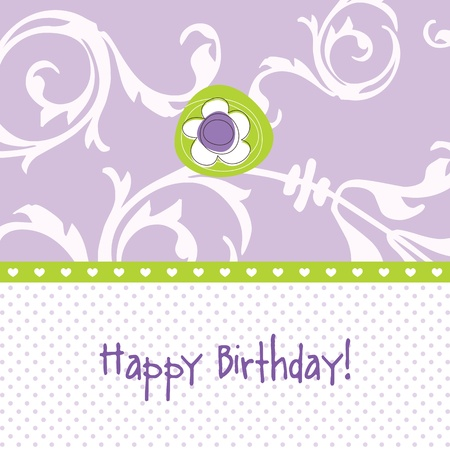 Birthday card with copy space Stock Vector - 13642392